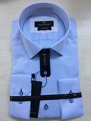 Нарядная приталенная рубашка с длинным рукавом