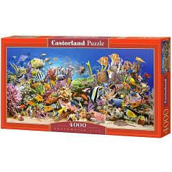 """Пазлы """"Подводная жизнь"""" , 4000 элементов (подводный мир, рыбки, под водой, кораллы, дельфины, море, волны,"""