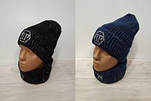 Комплект шапка+хомут женский арт 200 цвета.