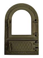 Дверки чугунные ZLFP1 со стеклом ГЕРМЕТИЧНЫЕ. Дверцы для печи и барбекю