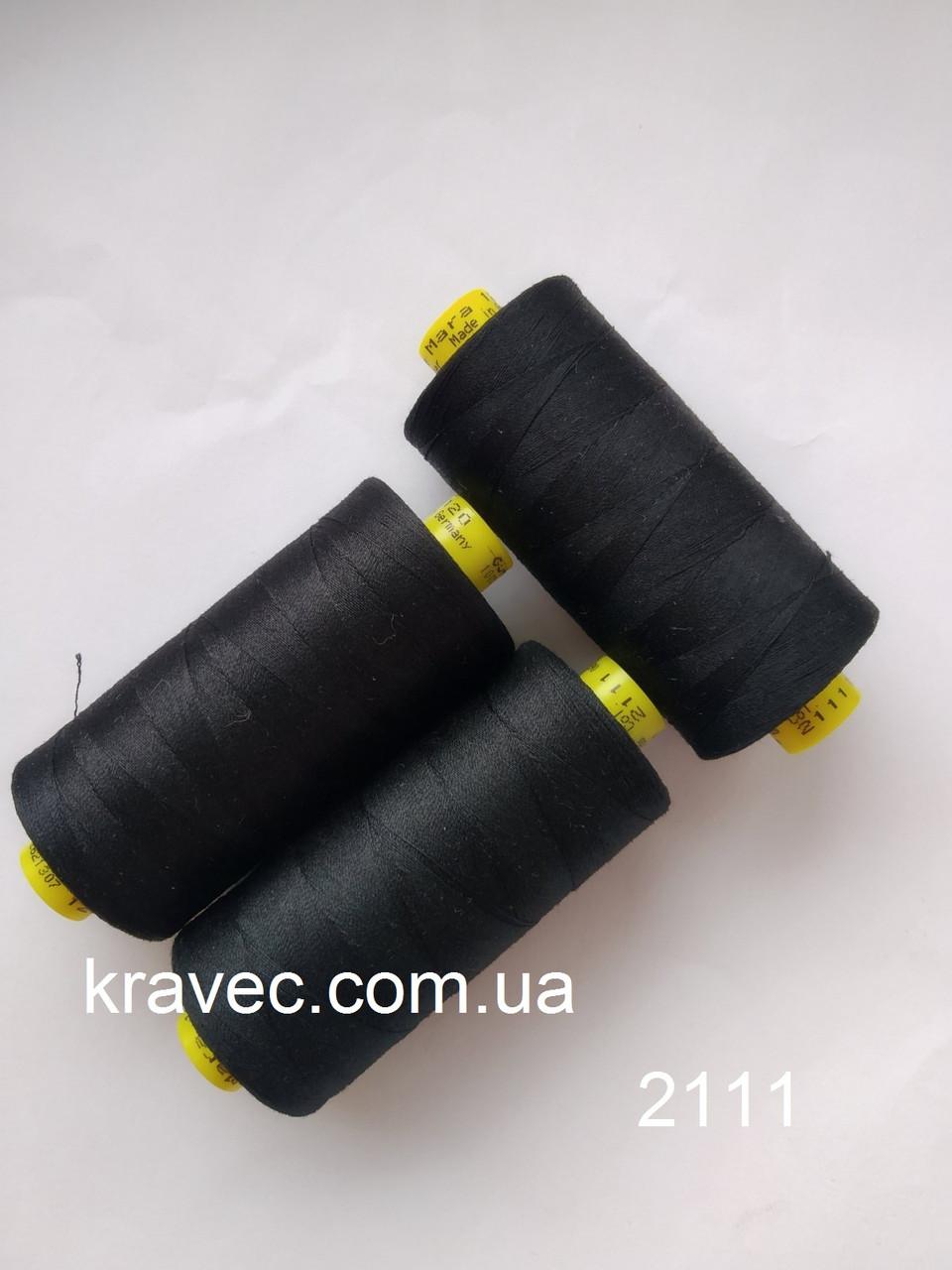 Нитка Gutermann Mara 120/2111/1000м  Німеччина, колір чорний