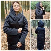 Зимнее пальто-одеяло цвет черный М521