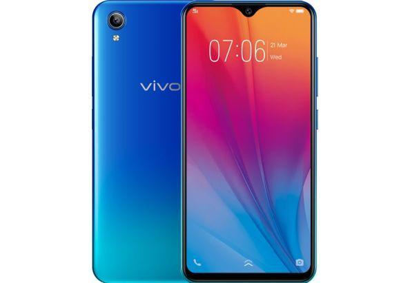 """Смартфон безрамочный с большим экраном и распознаванием лица 6,22"""" 2/32Gb VIVO Y91C синий"""