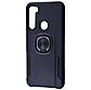 Чехол накладка Карбон Leather с кольцом для Xiaomi (Ксиоми) Redmi Note 8, фото 6