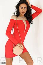 Платье с моделирующей вставкой