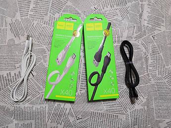 USB кабель Hoco X40 Micro USB (Черный и белый)