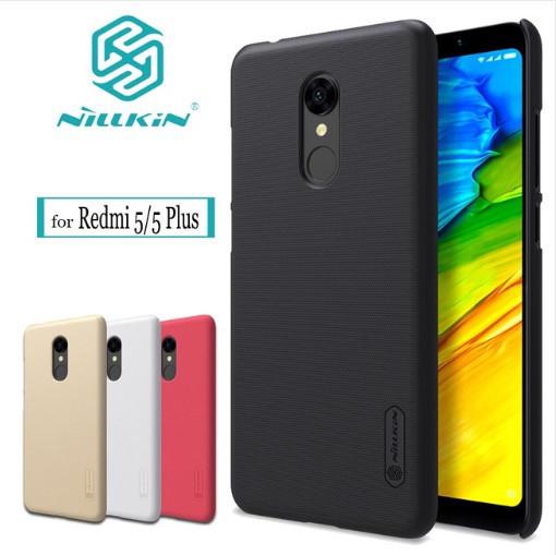 Чехол Nillkin для Xiaomi (Ксиоми) Redmi 5 Plus  (Розово-красный)