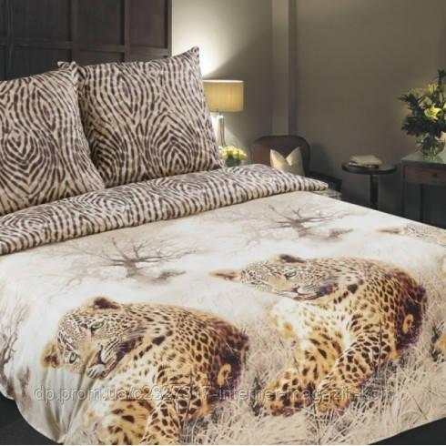 Комплект постільної білизни Нова Постиль поплін Леопард