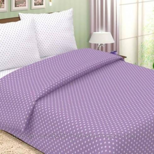 Комплект постільної білизни Нова Постиль поплін Фіолетовий горошок