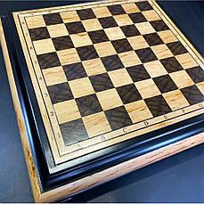 """Эксклюзивные шахматы ручной работы """"Запорожская Сечь"""". Набор шахмат из бронзы с деревянной доской., фото 3"""