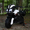 Электромобиль-мотоцикл белый T-7218 EVA WHITE мотор 1*15W аккумулятор 6V4,5AH деткам 2-4 года рост до 105см, фото 2