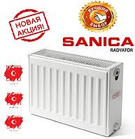 Панельные радиаторы отопления Sanica 22тип, 300х1000 батареи стальные турецкие
