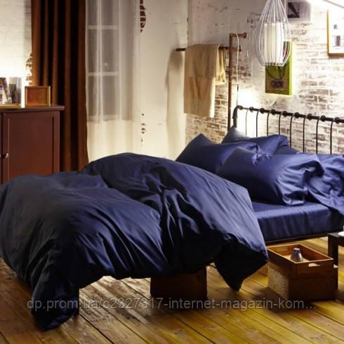 Комплект елітної постільної білизни Nova Postil Classic Blue сатин