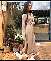 Женское платье ангора арктика серый бежевый 42-44 44-46, фото 1