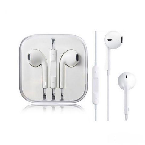 Наушники проводные в стиле EarPods, Дизайн Apple в коробке MiniJack 3.5mm