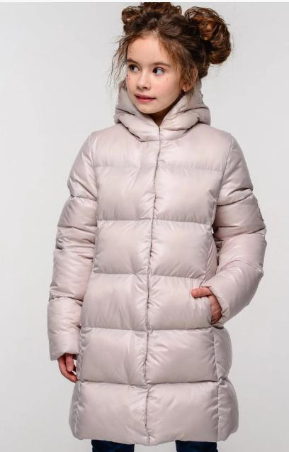 Стеганая зимняя куртка детская на девочку