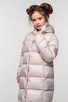 Стеганая зимняя куртка детская на девочку, фото 2
