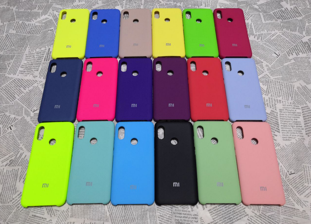 Резиновый брендовый Soft-touch чехол для Xiaomi (Ксиоми) RedMi Note 6 Pro