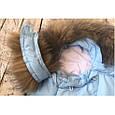 Зимовий конверт-кокон MagBaby для новонародженого Snowman дутик блакитний, фото 4