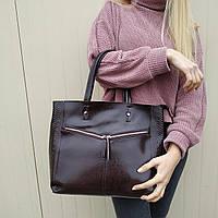 """Женская кожаная сумка """"Иветта Brown"""", фото 1"""