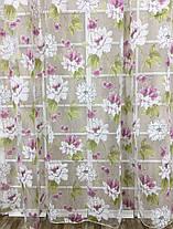 Комплект тюлей Хризантема (2шт 300*270см и подхваты), фото 2