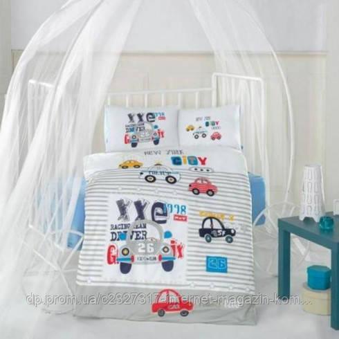 Детское постельное белье в кроватку Aran Clasy City Car ранфорс
