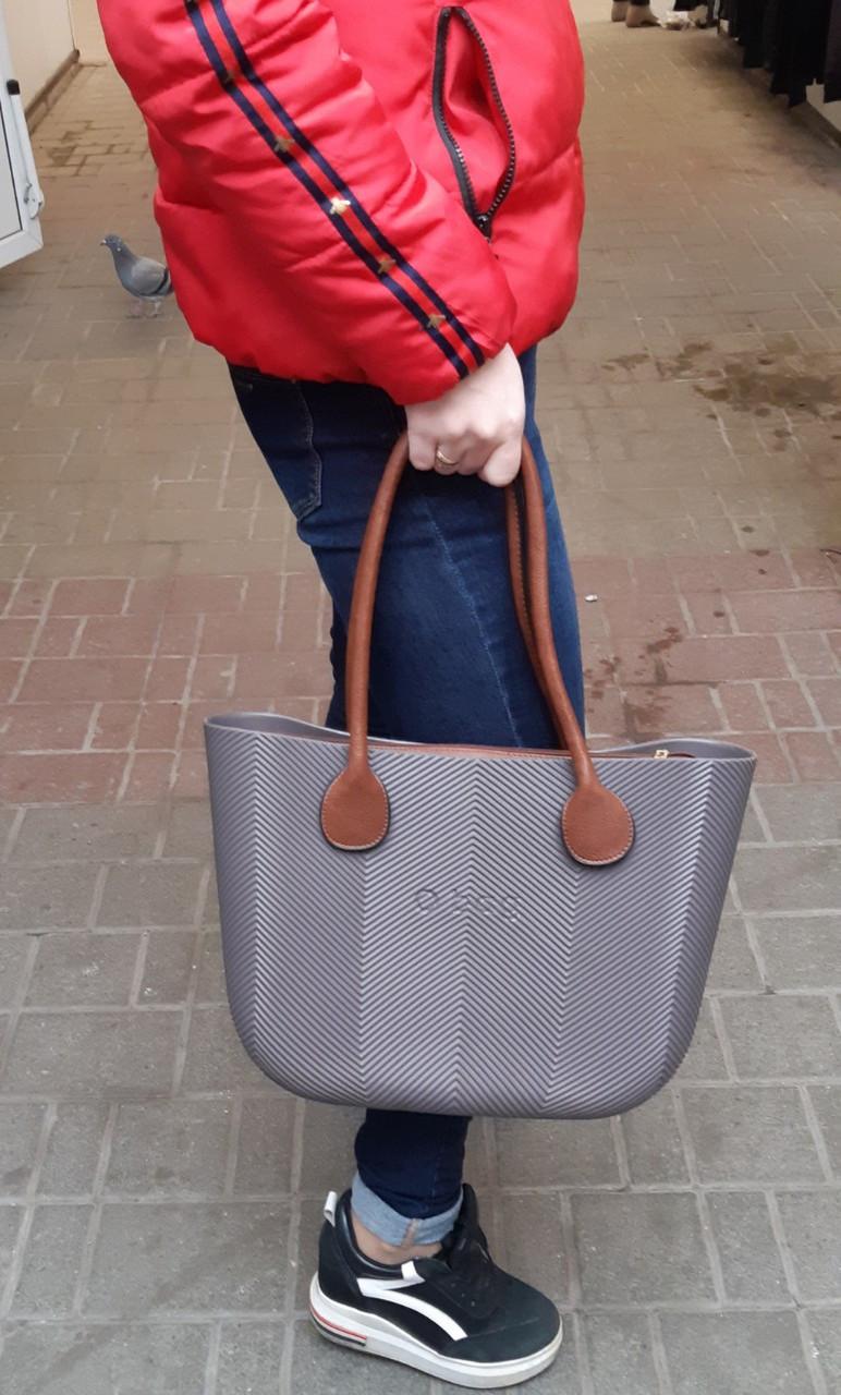 Женская сумка O bag classic в сером корпусе