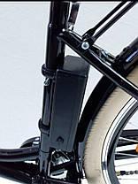 Чёрный ретро электровелосипед Fiesta 350w с передней корзиной, фото 2