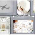 Дерев'яна мультирамка для фото 6 в 1 Руноко-6 Срібло, фото 2
