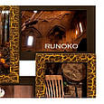 Дерев'яна мультирамка для фото 7 в 1 Руноко Піраміда Золотий Шоколад, фото 2