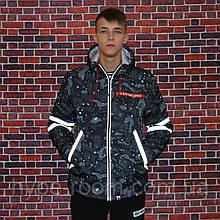 Мужская зимняя куртка в стиле Bape Shark | Рефлективные вставки!