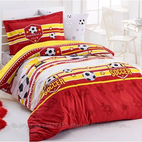 Подростковое постельное белье Aran Clasy Forza красный ранфорс