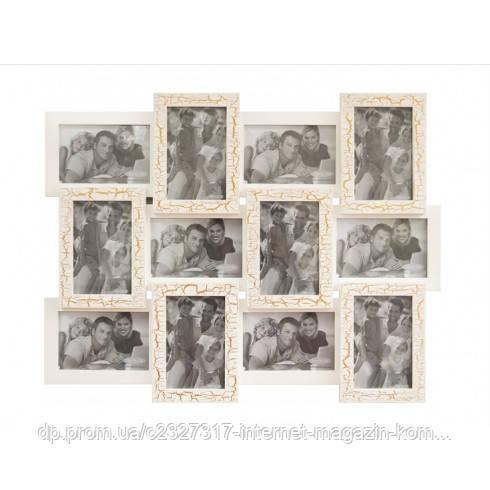 Дерев'яна мультирамка для фото 12 в 1 Руноко-12 Ампір