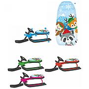 Снегокат детский Снегоход MS 1781-1-2-3-4 низкая рама, мягкое сиденье, размер 107-48-39см