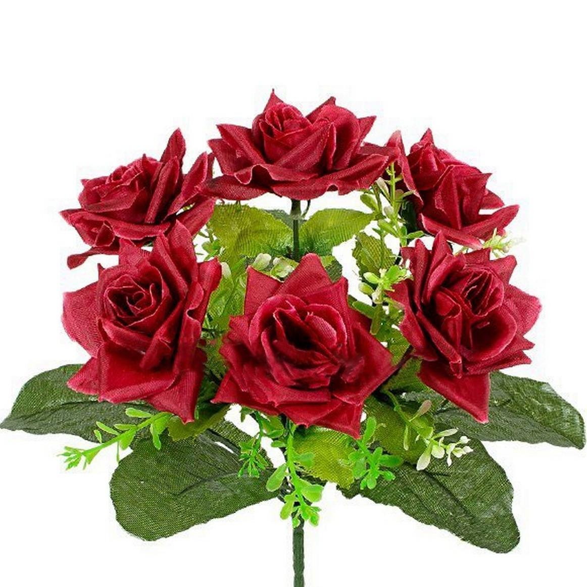 Букет розы с подкустником, 26см (20 шт. в уп )