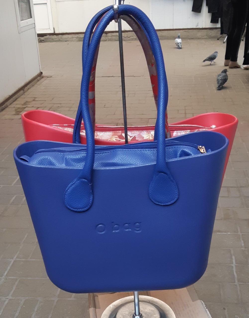 Женская сумка O bag mini в синим корпусе