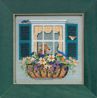 Набор для вышивания Mill Hill Window Box/Оконный вазон MH145104