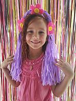 Антенка обруч Bonita Хвостик с цветами Разноцветный