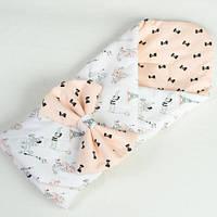 Демисезонный конверт-одеяло на выписку BabySoon Париж пудра