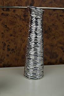 Ваза для цветов большая серебро