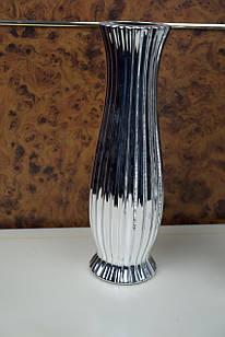 Ваза для цветов металическая серебристая большая