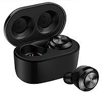 Беспроводные наушники вакуумные стерео Aspor Air Twins A6 TWS Bluetooth-гарнитура с боксом для зарядки Black