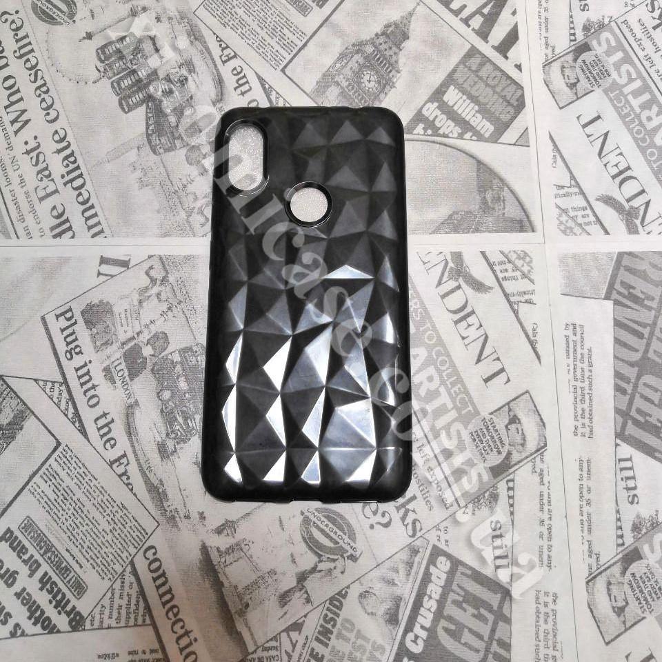 Силиконовый чехол Crystal для Xiaomi Redmi Note 6 Pro (черный)