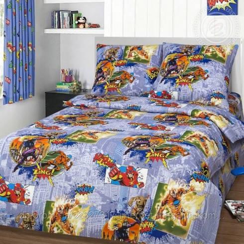 Комплект детского постельного белья Супергерои Nova Postil бязь