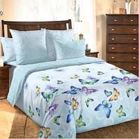 Комплект постельного белья Комфорт-текстиль перкаль Блю Баттерфляй