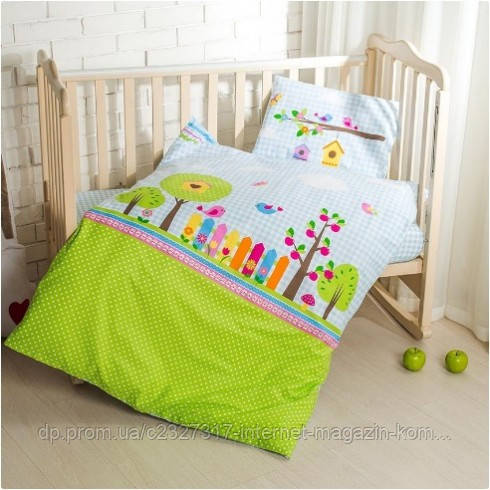Постельное белье в кроватку Идея Bird Garden