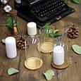 Скляний ковпак на дерев'яній підставці 80*105 мм, натуральний, фото 2