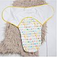 Євро-пелюшка на липучках Magbaby c шапочкою Азбука 3-6 міс, фото 2