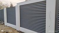 Забор жалюзи металлический паркан двухсторонний глянцевый матовый под дерево