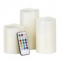 Набор LED свечей Luma Candles Color Changing Волшебные свечи 3 шт Белые